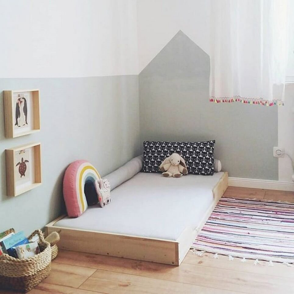 Montessori Children Wooden Bed