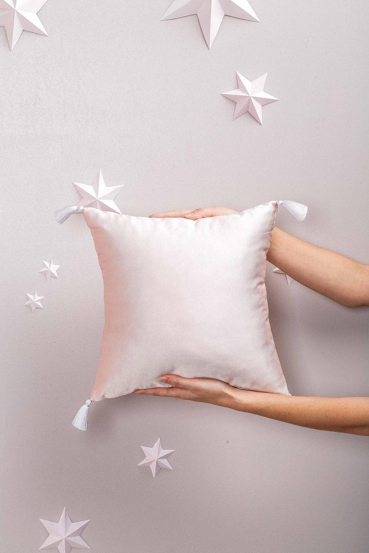 Pink Pearls Satin Pillow