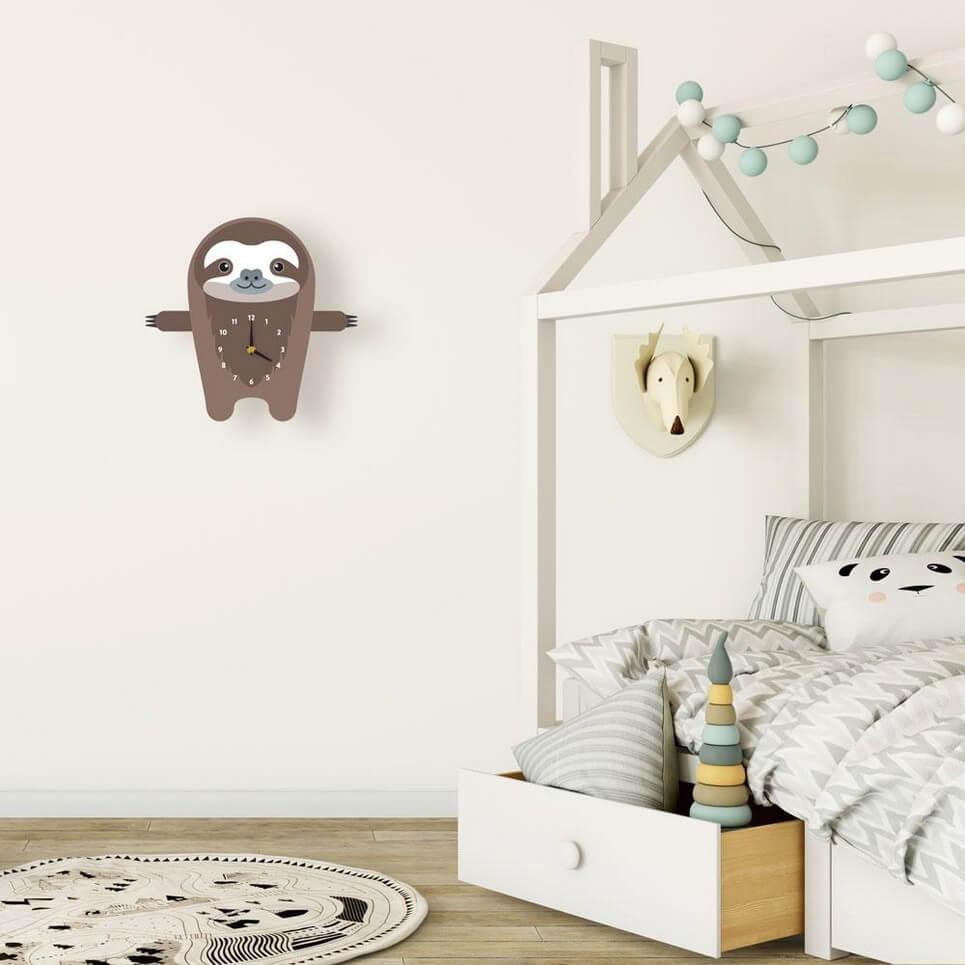 Samuel The Sloth Pendulum Wall Clock