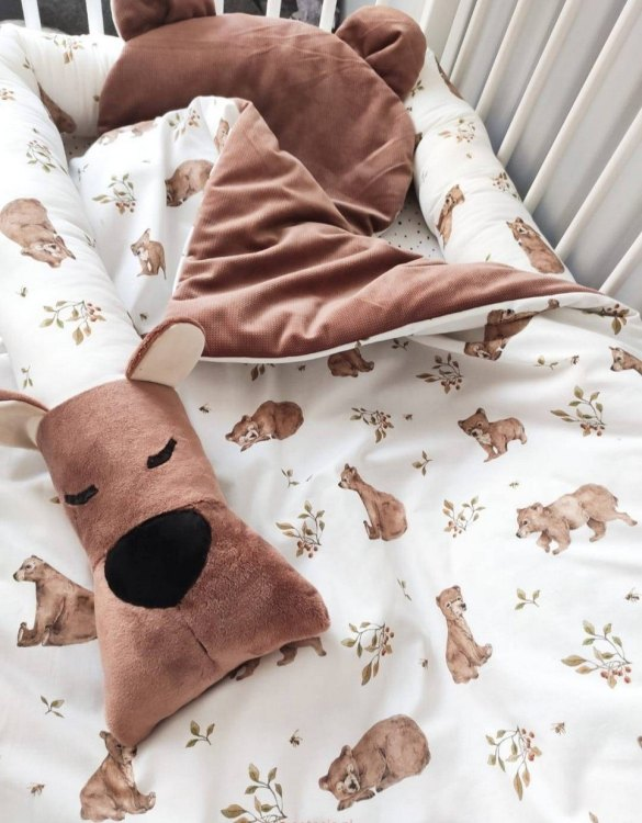 The perfect gift for any parents, the Teddy Bears Baby Cot Bedding Set would be the perfect addition to any child's bedroom. Made from 100% soft cotton, this baby bedding set will make a lovely addition to welcome a new baby at home!