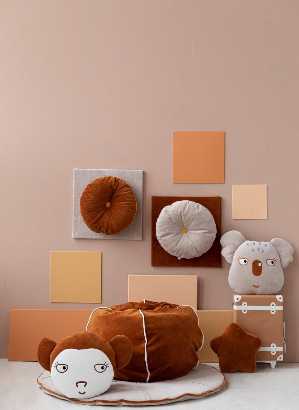 Velvet Cinnamon Children's Bubble Beanbag