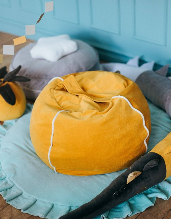 Perfect for creating a little reading corner in a children's bedroom, the Velvet Mustard Children's Bubble Beanbag is perfect for lounging. The perfect gift for any toddler or small child, this seating solution is a gorgeous addition to a little one's bedroom or nursery.