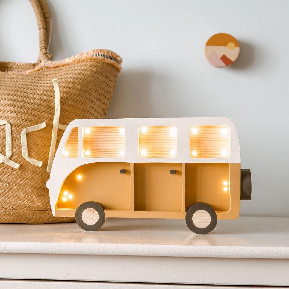 Wooden Van Lamp