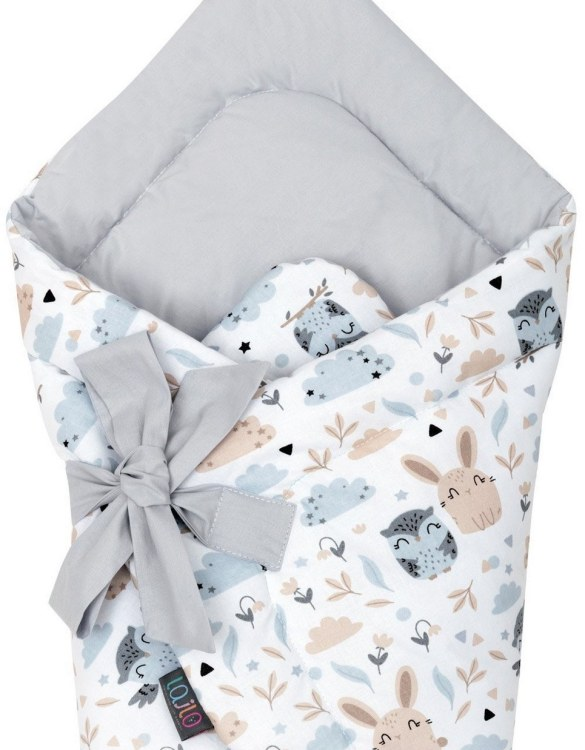 A delightful new-born baby or baby shower present, the Animals Swaddle Blanket makes a truly unique gift. Babies love to be cuddled from birth as it reminds them of the womb- an environment they spent a lot of time in while they developed.
