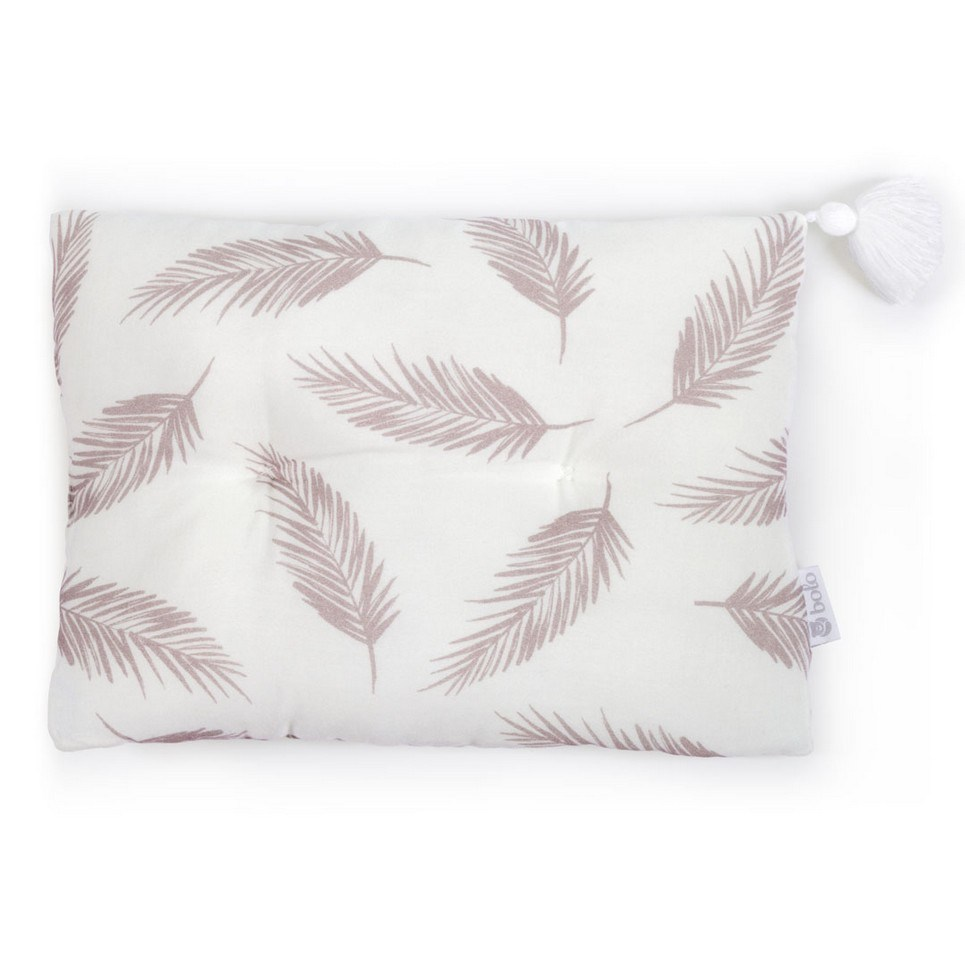 Beige Leaves Bamboo Baby Pillow