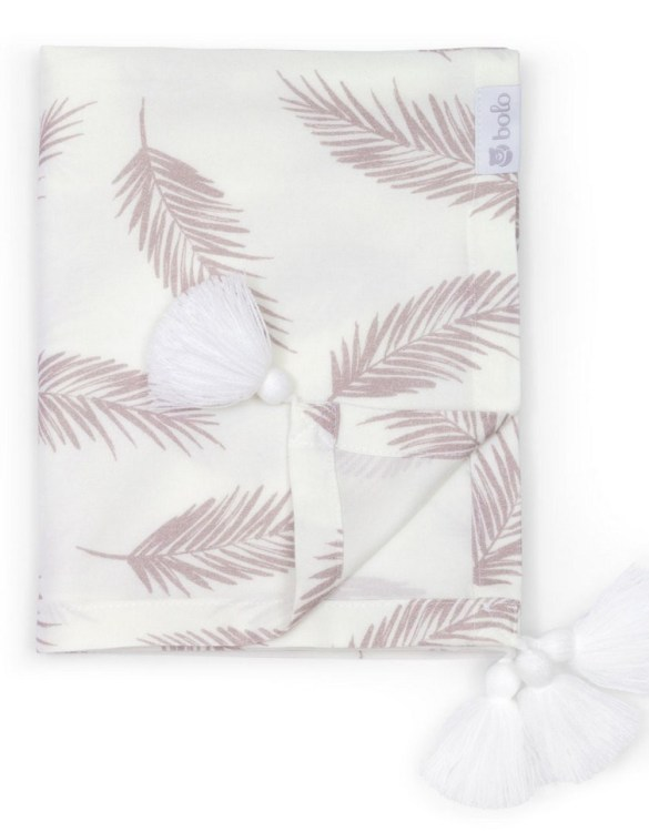 Giving a beautifully soft feel, the Beige Leaves Bamboo Swaddle Blanket is a lovely lightweight swaddle blanket for your little one. A gift that's sure to be spotted from all the rest.