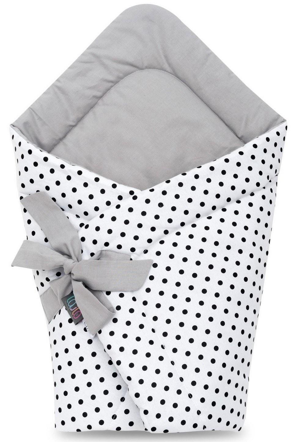 Black Dotty Swaddle Blanket