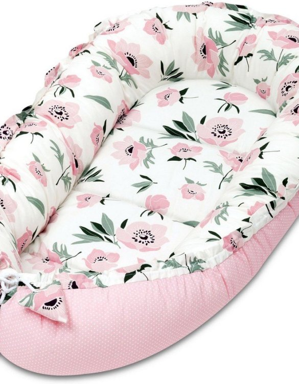 With a stylish design, the Coral Flowers Baby Nest Cocoon ensures that your baby sleeps in a cosy and soft environment, which is the best idea when a crib is still very big within the first few months.