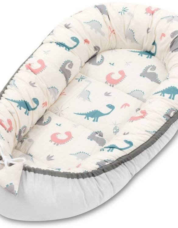 With a stylish design, the Crazy Dino Baby Nest Cocoon ensures that your baby sleeps in a cosy and soft environment, which is the best idea when a crib is still very big within the first few months.