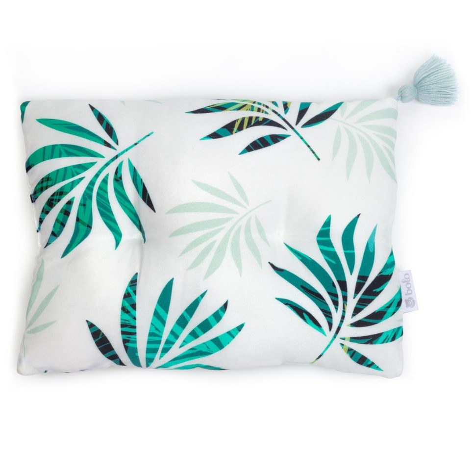 Green Leaves Bamboo Baby Pillow