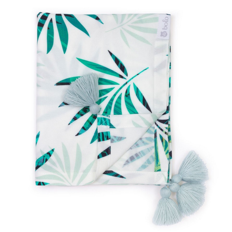 Green Leaves Bamboo Swaddle Blanket