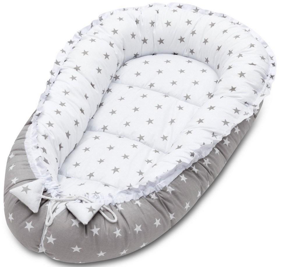 Grey Stars Baby Nest Cocoon