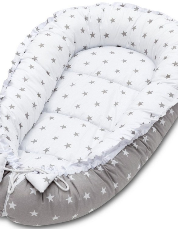 With a stylish design, the Grey Stars Baby Nest Cocoon ensures that your baby sleeps in a cosy and soft environment, which is the best idea when a crib is still very big within the first few months.