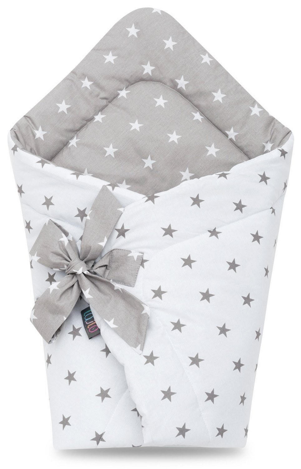 Grey Stars Swaddle Blanket