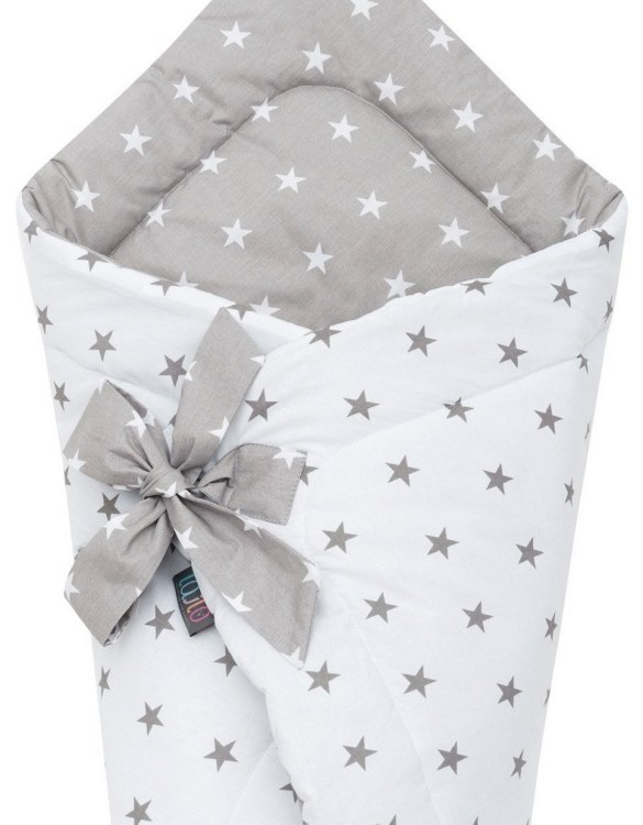 A delightful new-born baby or baby shower present, the Grey Stars Swaddle Blanket makes a truly unique gift. Babies love to be cuddled from birth as it reminds them of the womb- an environment they spent a lot of time in while they developed.