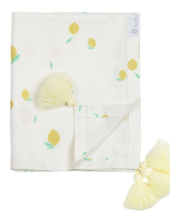Giving a beautifully soft feel, the Lemons Bamboo Swaddle Blanket is a lovely lightweight swaddle blanket for your little one. A gift that's sure to be spotted from all the rest.