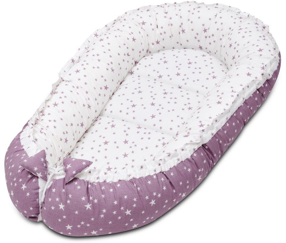 Lilac and Purple Stars Baby Nest Cocoon