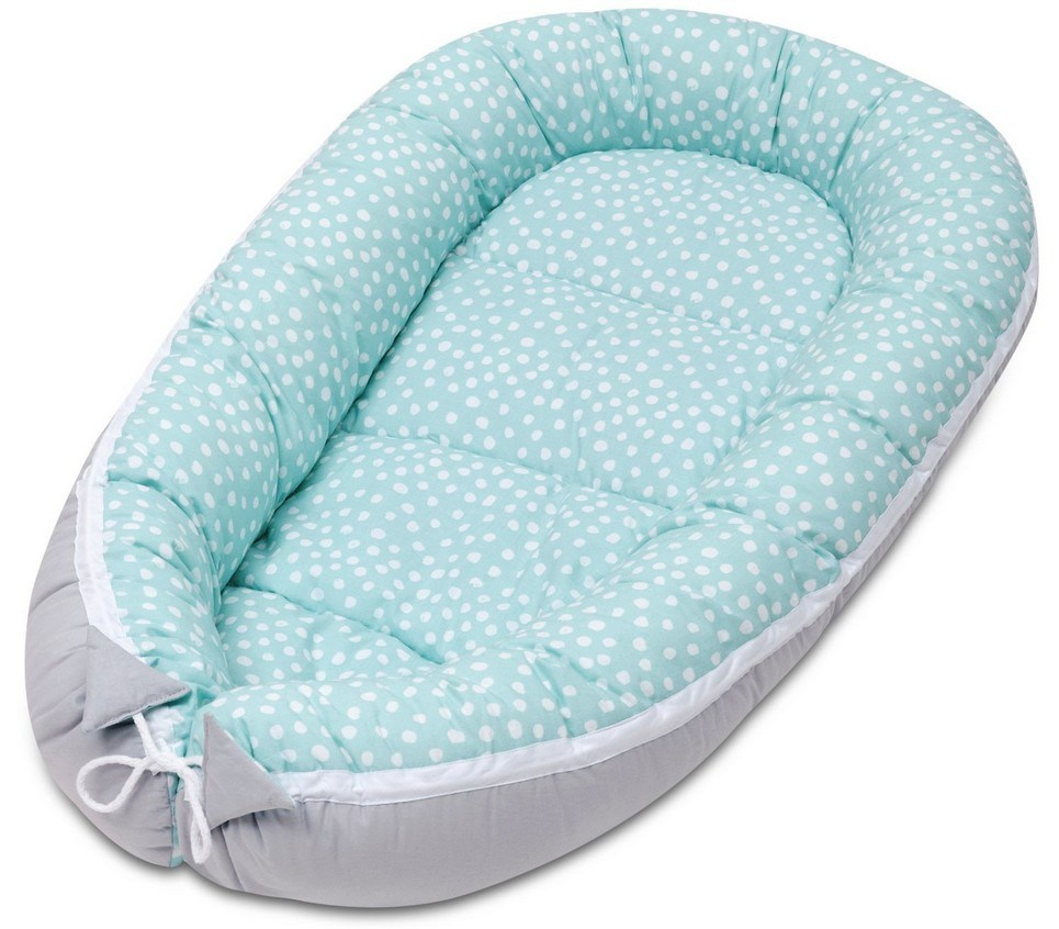 Mint Dotty Baby Nest Cocoon