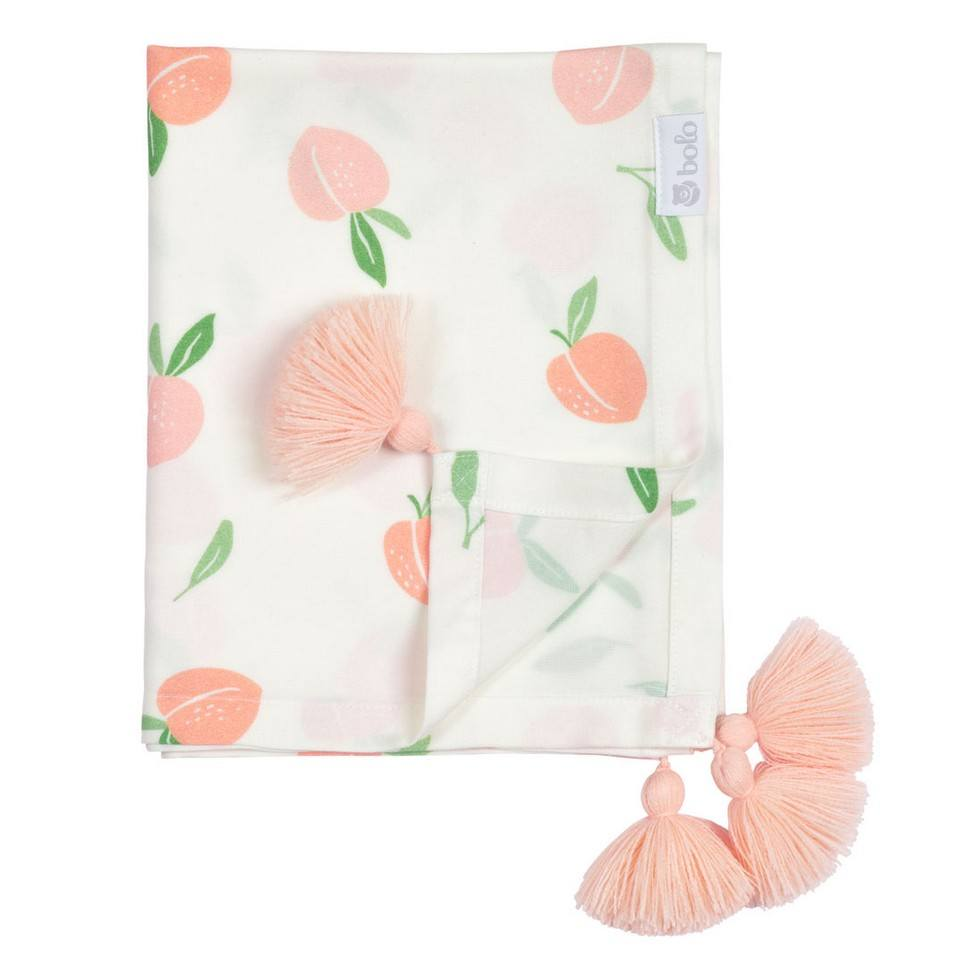 Peaches Bamboo Swaddle Blanket