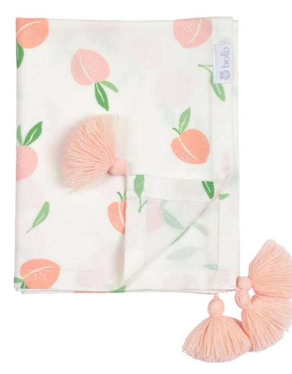 Giving a beautifully soft feel, the Peaches Bamboo Swaddle Blanket is a lovely lightweight swaddle blanket for your little one. A gift that's sure to be spotted from all the rest.