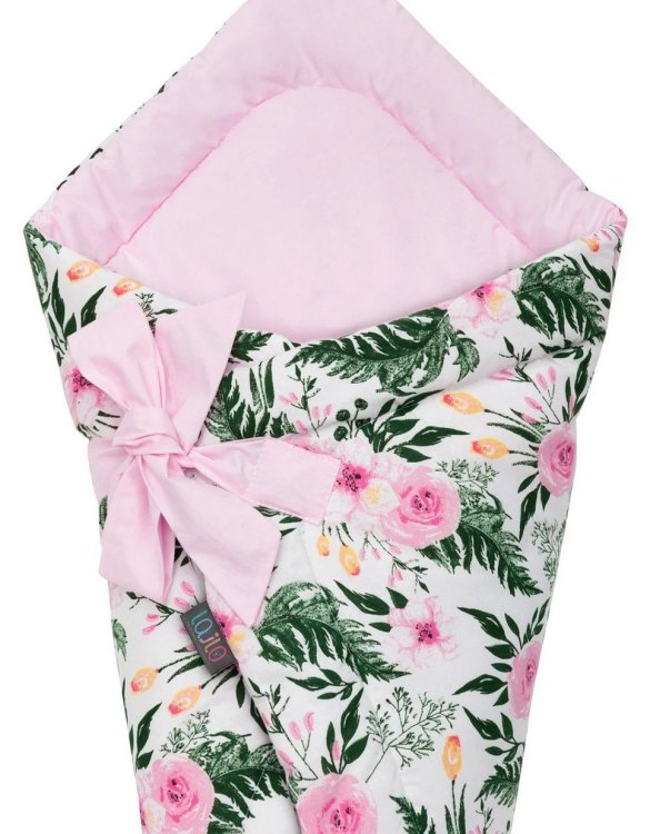 A delightful new-born baby or baby shower present, the Pink Blossom Swaddle Blanket makes a truly unique gift. Babies love to be cuddled from birth as it reminds them of the womb- an environment they spent a lot of time in while they developed.