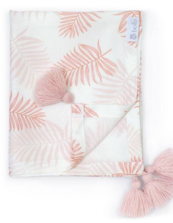 Giving a beautifully soft feel, the Pink Leaves Bamboo Swaddle Blanket is a lovely lightweight swaddle blanket for your little one. A gift that's sure to be spotted from all the rest.