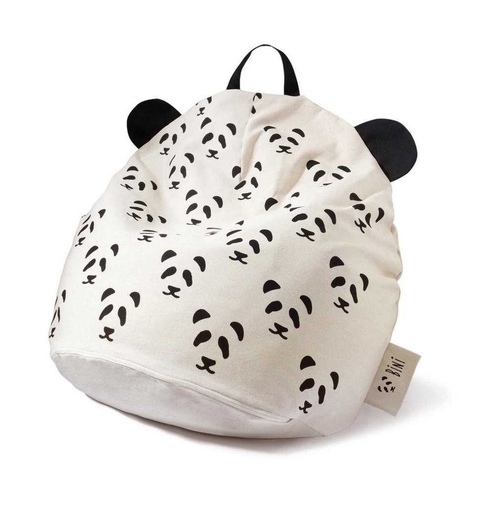 Bini with Pandas and Black Handle Kid's Beanbag