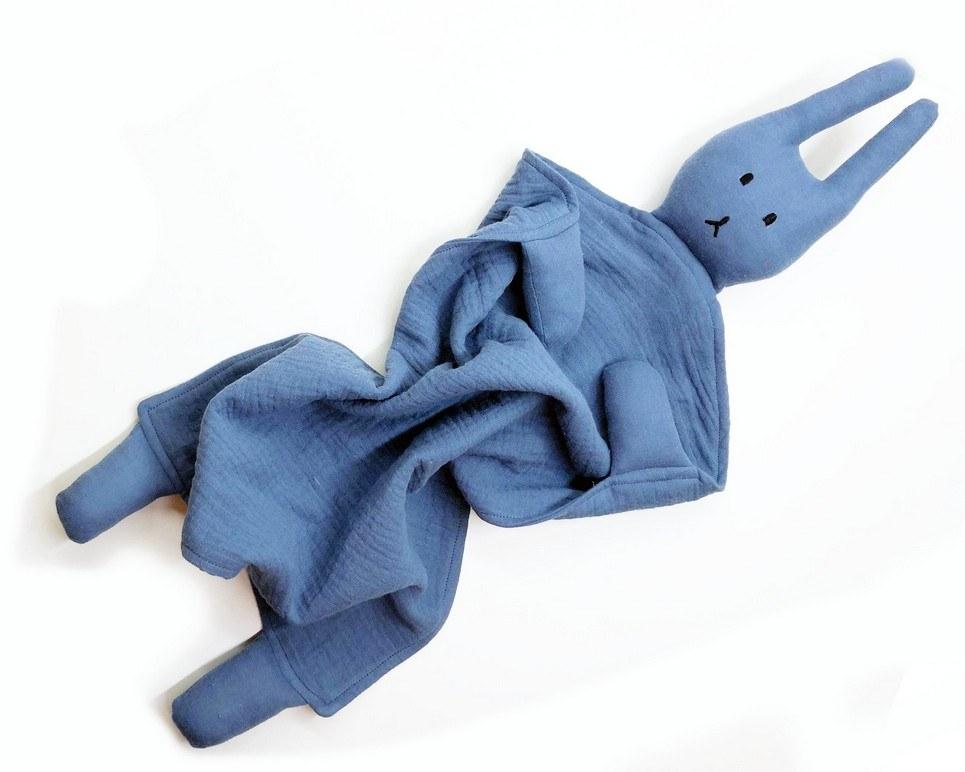 Peter Rabbits Dark Blue Baby Comforter