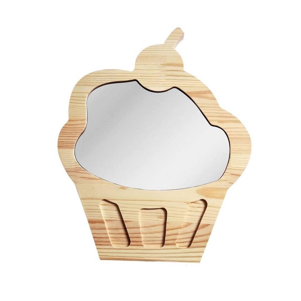 Big Solid Pinewood Mirror Cupcake
