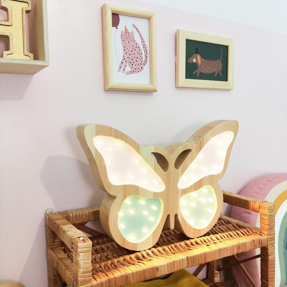 Mint Wooden Butterfly Lamp