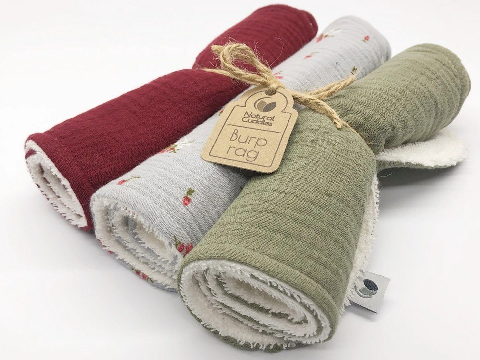Set of 3 Christmas Burp Rags