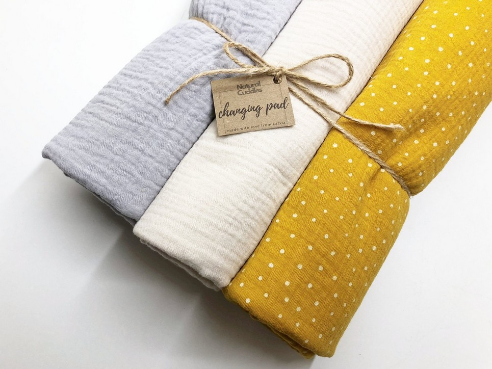 Set of 3 Yellow Changing Pads