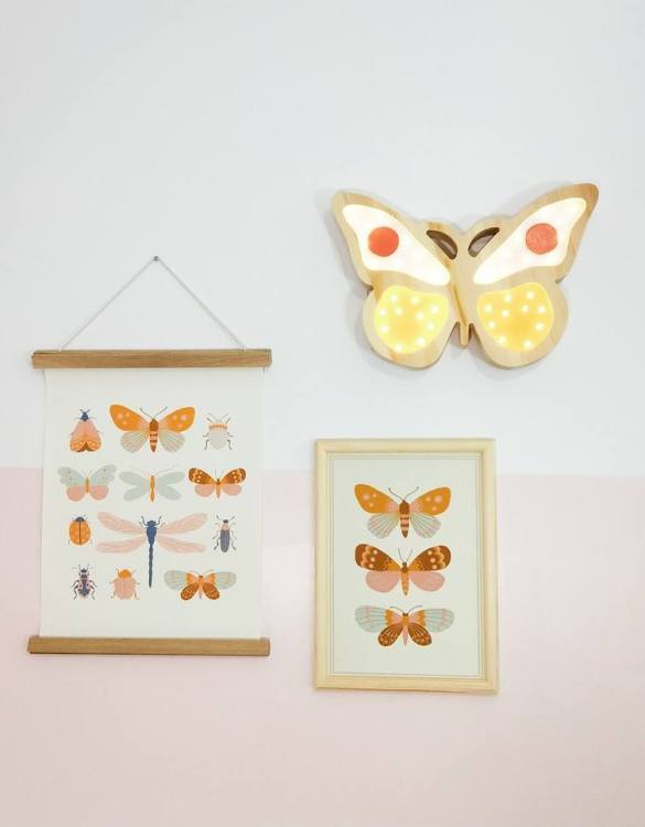 Creating a special and warming atmosphere in your bedroom, the Yellow Wooden Butterfly Lamp is ideal for a night light or as a gift. The butterfly lamp will take everyone to the colorful world of spring and long, warm days. With its presence and warm light, it will certainly help you fall asleep.