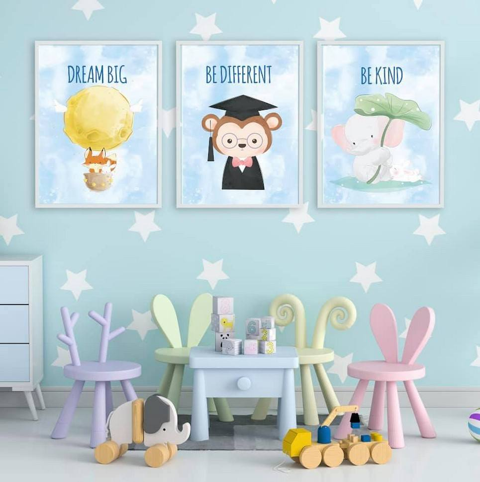 Be Different Decorative Children Illustration Set