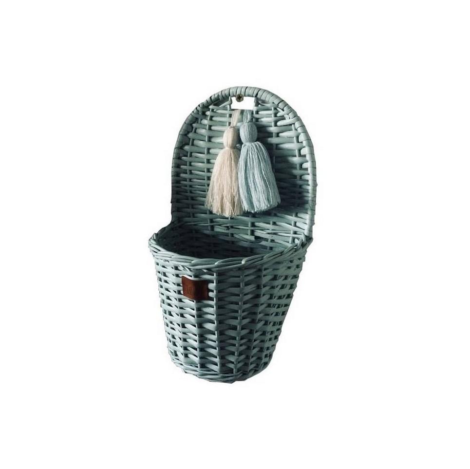Dirty Mint Lu Wicker Wall Basket