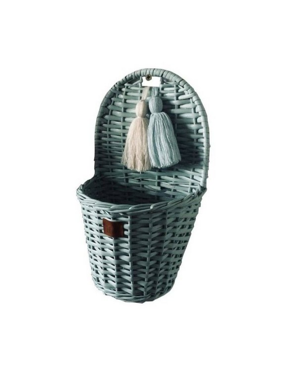 Made from the best quality polish wicker, the Dirty Mint Lu Wicker Wall Basket is a wonderful decoration for kids' rooms. This adorable wall hanging wicker basket is one of the most delightful storage options we have seen.