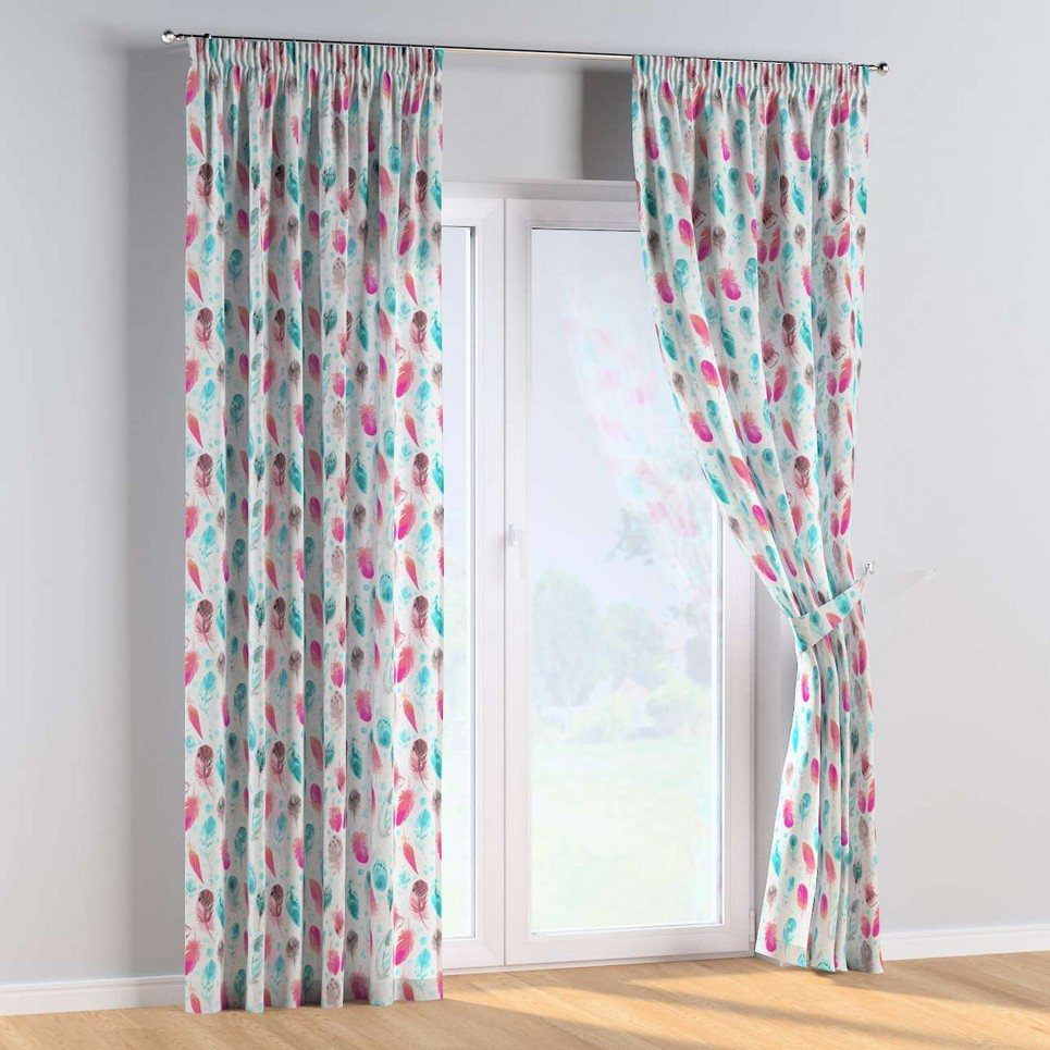 Feathers and Dreams Pencil Pleat Kids Curtains