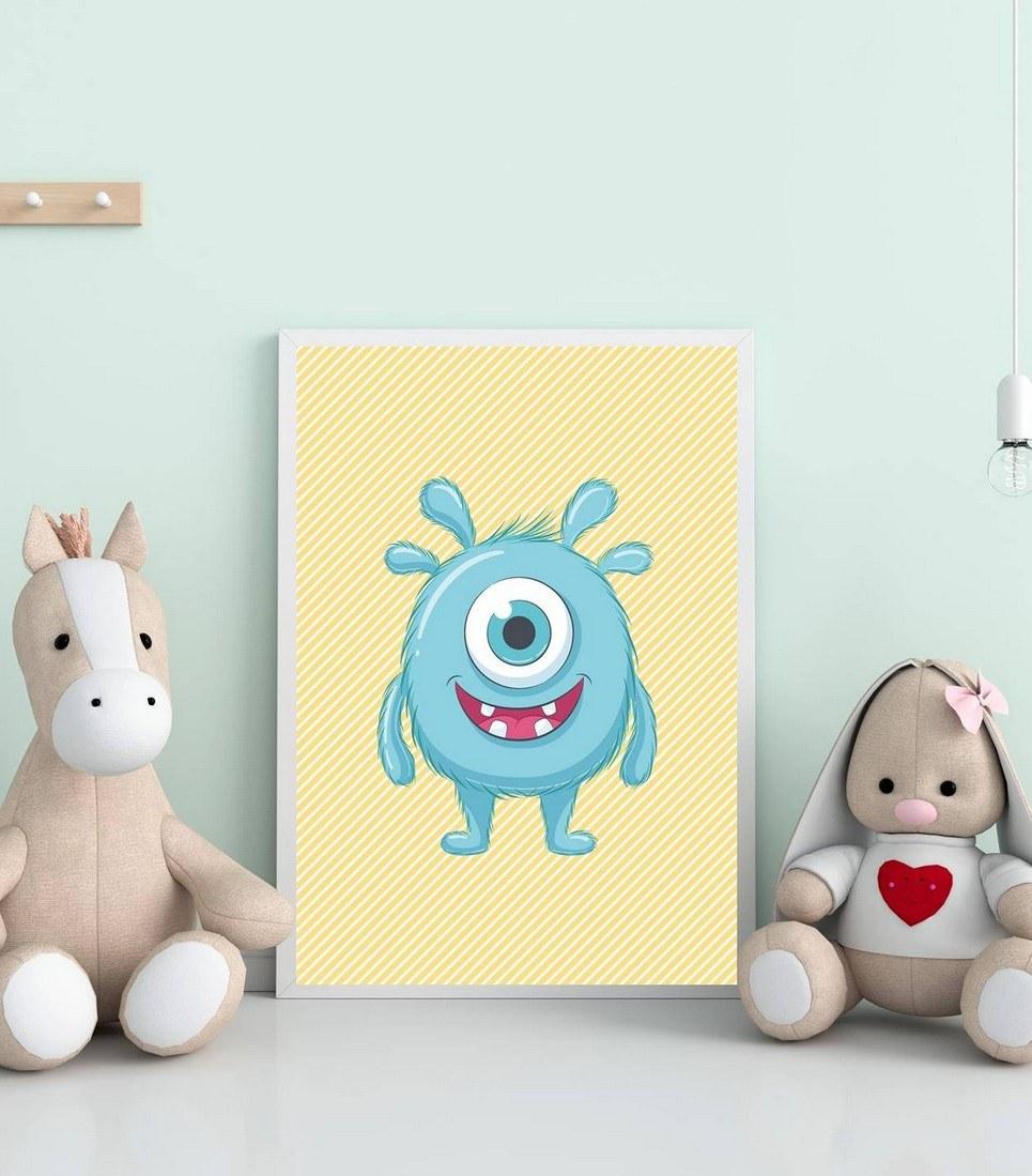 Funny Monster Decorative Children Illustration