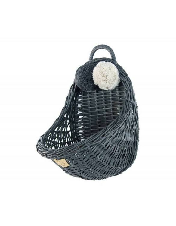 Made from the best quality polish wicker, the Graphite Maalum Wicker Wall Basket is a wonderful decoration for kids' rooms. This adorable wall hanging wicker basket is one of the most delightful storage options we have seen.