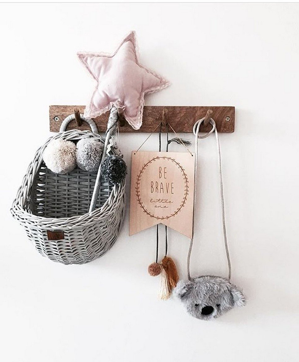 Gray Maalum Wicker Wall Basket
