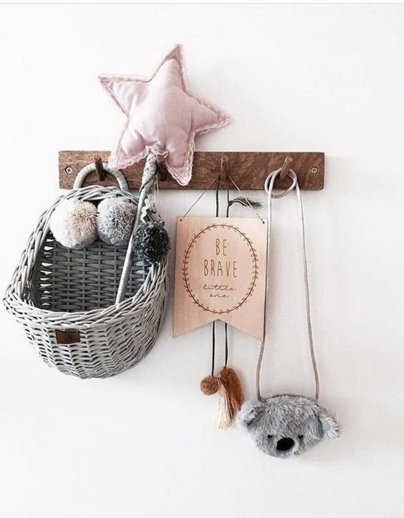 Made from the best quality polish wicker, the Gray Maalum Wicker Wall Basket is a wonderful decoration for kids' rooms. This adorable wall hanging wicker basket is one of the most delightful storage options we have seen.