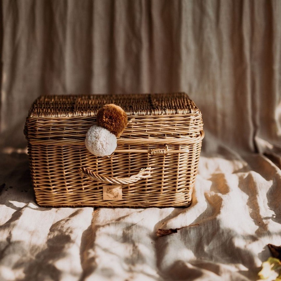 Natural Wicker Suitcase – 2