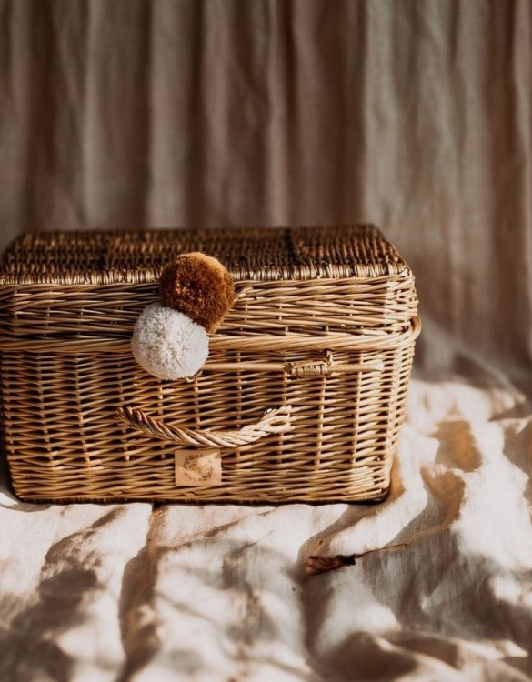 Perfect for storing toys and other treasures, the Natural Wicker Suitcase is a gorgeous storage piece for a child's room. This beautiful small wicker suitcase is an extra special piece to add to a nursery or child's room.