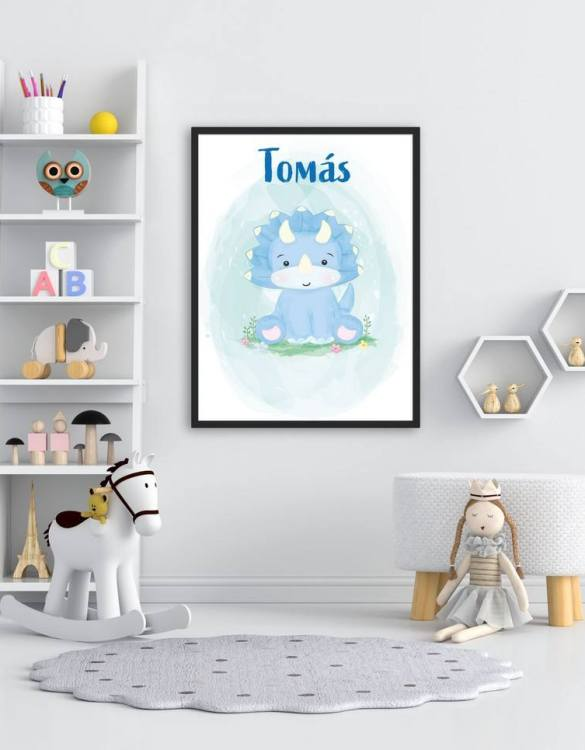 Perfect for a birthday or Christmas present, the Personalised Name Rhino Children Illustration is a really unique and eyecatching print that is loved by kids and adults. This print would make an ideal new baby gift or a very sweet birthday present for a baby or toddler.