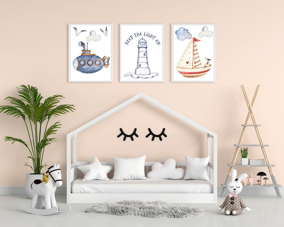 Sea Decorative Children Illustration Set