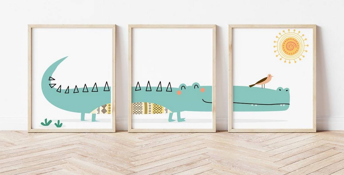 Whether you're decorating your first nursery, or are keen to give your kid's bedroom an affordable update, there are numerous prints and pictures out there to choose from.