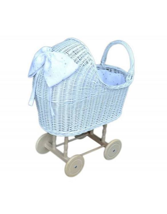 "Gorgeous wicker stroller for a doll, the White High Wicker Doll Pram will be a favourite toy in no time. Such stroller is a great fun for every little ""mom"" and at the same time a 100% stylish, ecological and Polish toy."