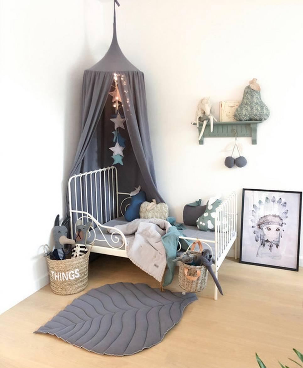 Baldachin Graphite Children's Bed Canopy