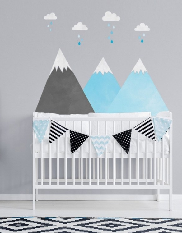 A beautiful scene for children's rooms and nurseries, the Blue Mountains and Clouds Children's Wall Sticker is the perfect addition to any empty space (like walls or furniture). These wall stickers provide a flexible and cost-effective way to decorate your home.