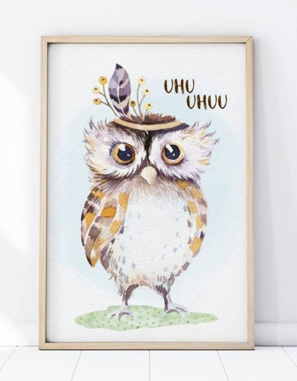 A unique keepsake that will create enchanting memories, the Boho Owl Children's Poster is a really unique and eyecatching print that is loved by kids and adults. Encourage their wild side with this fun print. Designed in a playful font, they will make a great addition to any nursery, child's room, or playroom.